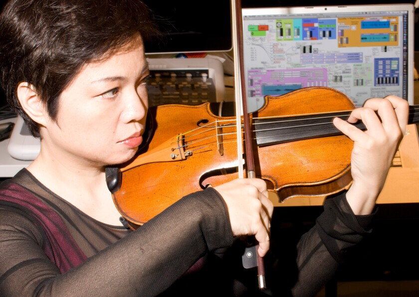 Violinist and composer Mari Kimura, a music professor at UC Irvine and at The Juilliard School in New York, will perform online this weekend as part of the San Diego-based NWEAMO Festival.