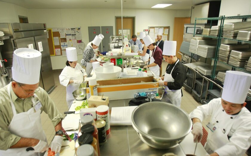 Local hospital chefs take part in a two day Food Forward Culinary Conference at Palomar Medical Center aimed at creating healthier hospital meals.