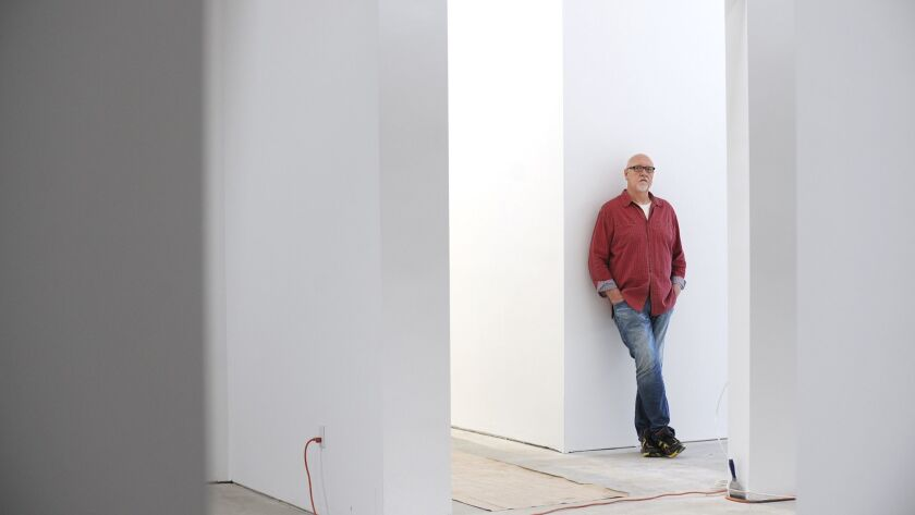 Clyde Beswick, co-founder of CB1 Gallery, at his Arts District gallery in 2015.