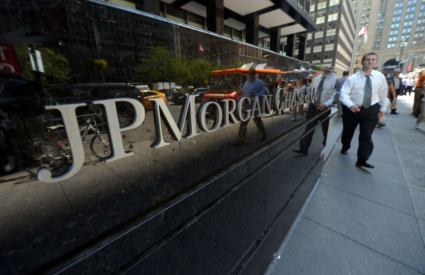 About 6% of the 300,000-plus customers who applied for small-business loans through JPMorgan's business banking unit got them.