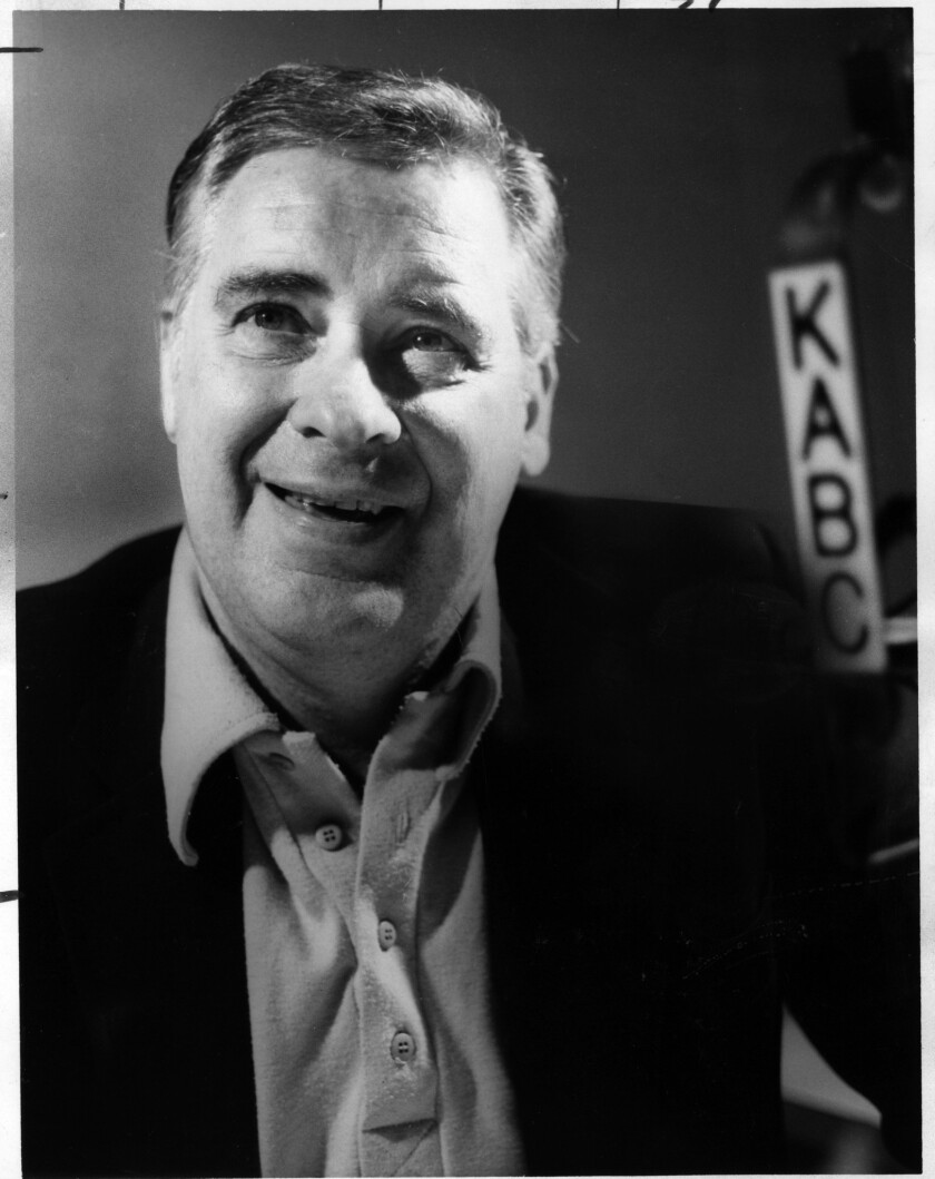 Ray Briem, a longtime Los Angeles radio talk-show host know for his conservative views, in an undated photo.