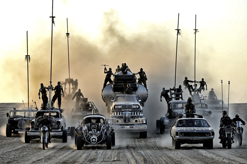 """A scene from """"Mad Max: Fury Road."""" Director George Miller previewed some footage from the upcoming film at SXSW."""