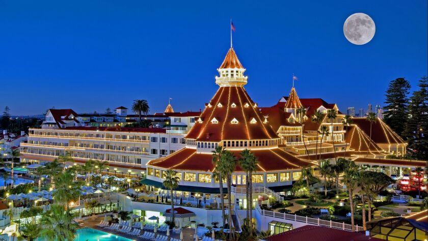 Hotel del Coronado decorated for the Christmas Season. Credit: Hotel del Coronado