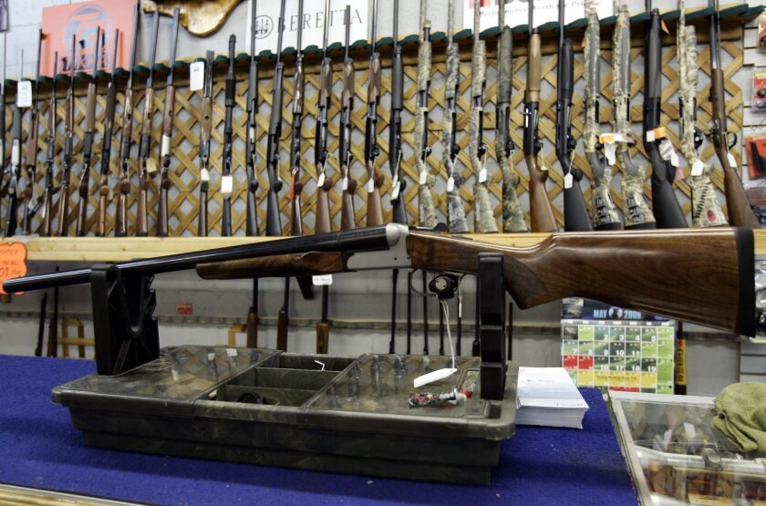 Rifles in a hunting store in Ottawa