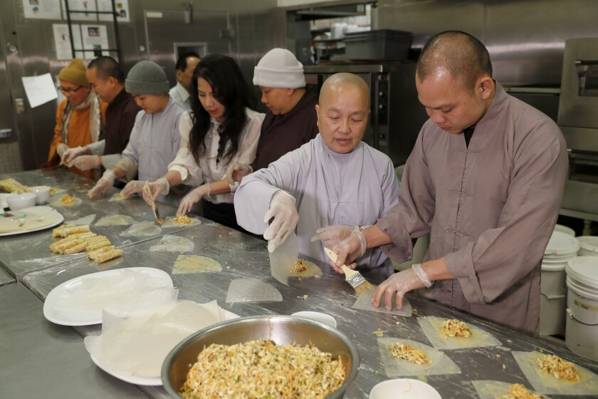 Lotus, a restaurant run by Buddhist nuns and the Brodard restaurant family