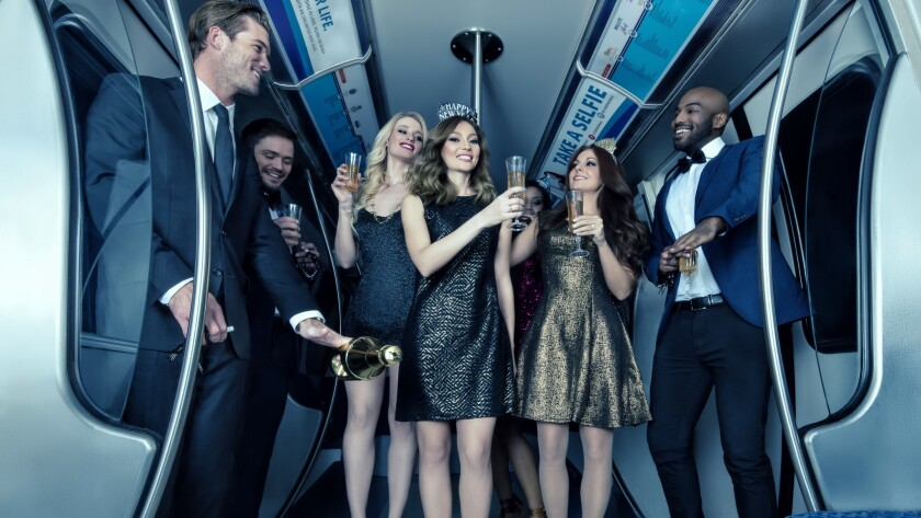 Partiers will toast 2017's arrival from floor-to-ceiling windows of monorail cars, which will be transformed into a party venue on Dec. 31.