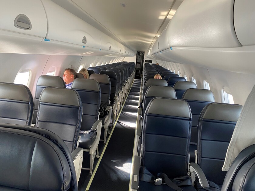 A flight from Los Angeles International Airport to Boise, Idaho, was carrying only four people on March 31.