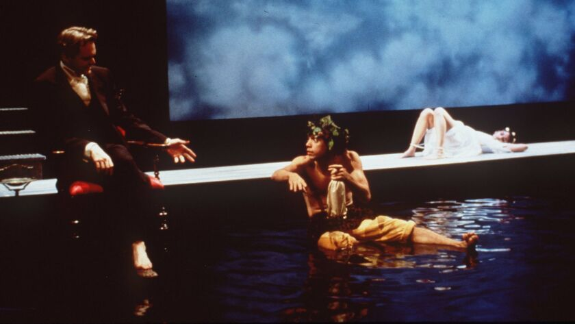 "Raymond Fox, left, Doug Hara and Anjali Bhimani in ""Metatmorphoses"" in 2000"