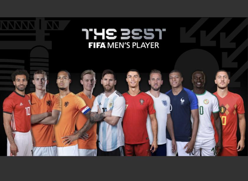 Los 10 futbolistas nominados.