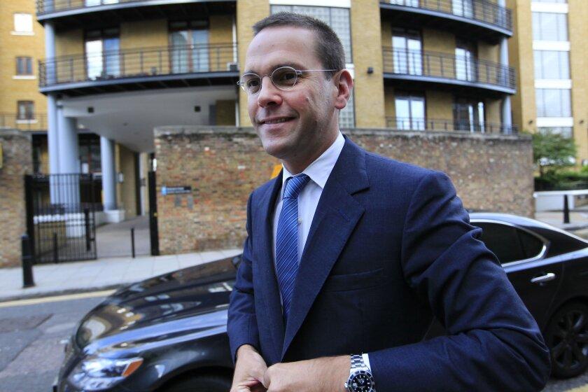 James Murdoch, the younger son of Rupert Murdoch