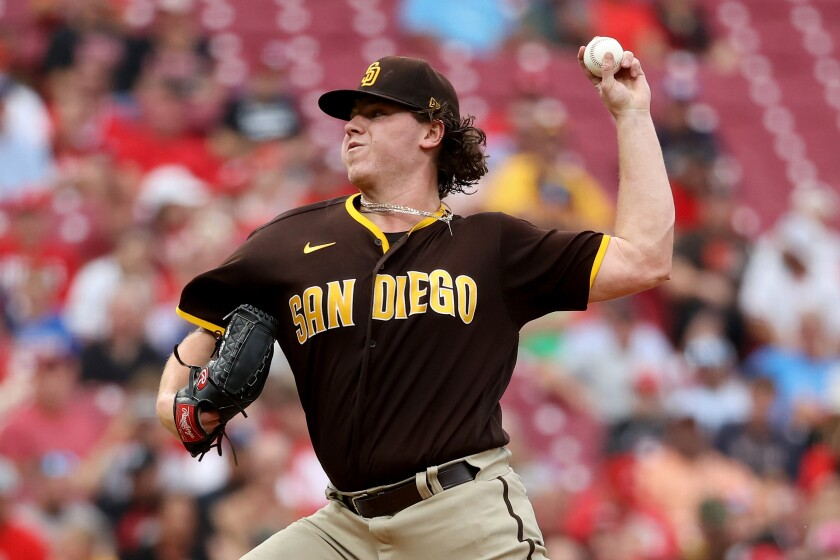 The Padres' Ryan Weathers