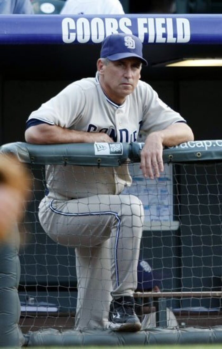 Padres manager Bud Black has a pair of aces at the top of his rotation in Jake Peavy and Chris Young, but this spring he will have to resolve a lot of question marks on his pitching staff beyond those two.