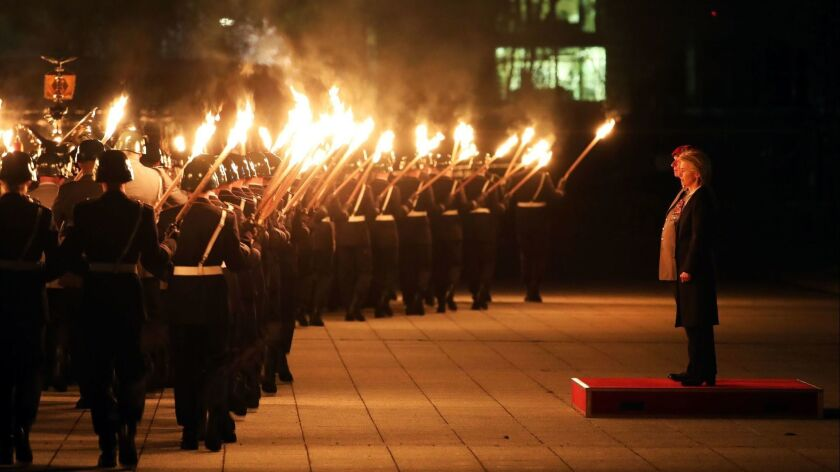 Grand Tattoo farewell ceremony for Chief of Staff Volker Wieken, Berlin, Germany - 18 Apr 2018