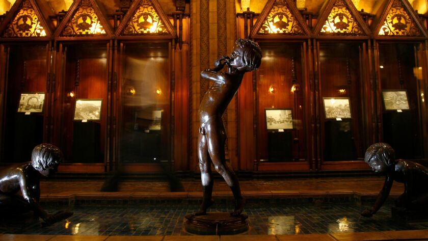 The lobby of the Fine Arts Building in downtown Los Angeles, which opened in 1926 and was sold this week for $43 million to a Santa Barbara investment firm.