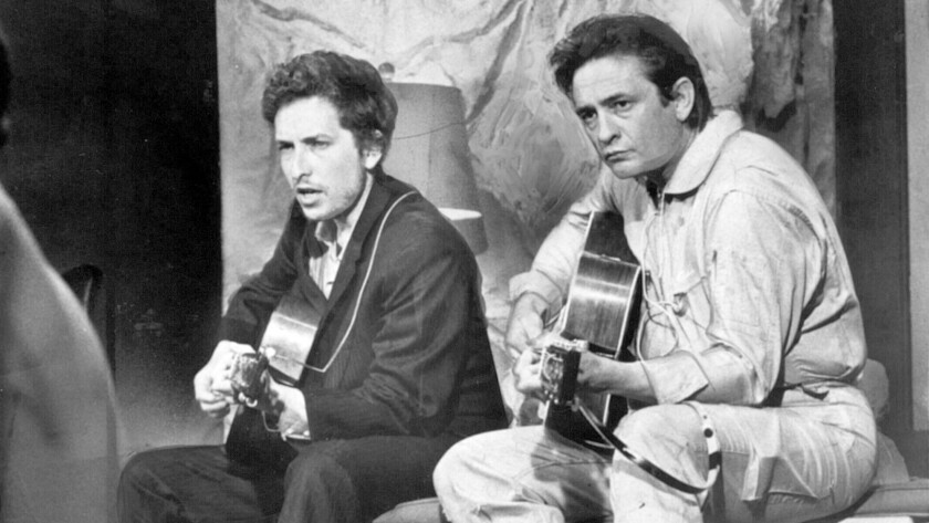 Bob Dylan and Johnny Cash