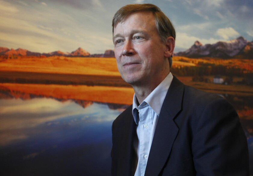 Colorado Gov. John Hickenlooper appears to have softened his views on marijuana legalization.