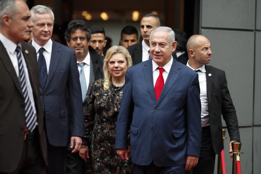 Prime Minister Benjamin Netanyahu and his wife Sara Netanyahu