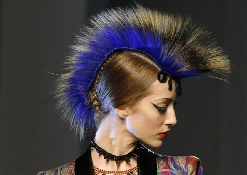 Classic Couture Plus Mohawks Equals Gaultier The San Diego Union Tribune