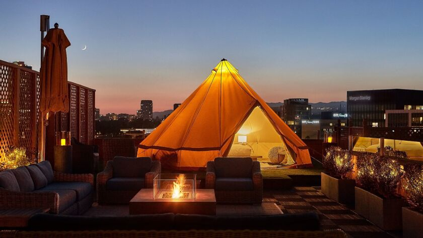 Here's your chance to camp out on top of the Beverly Wilshire hotel