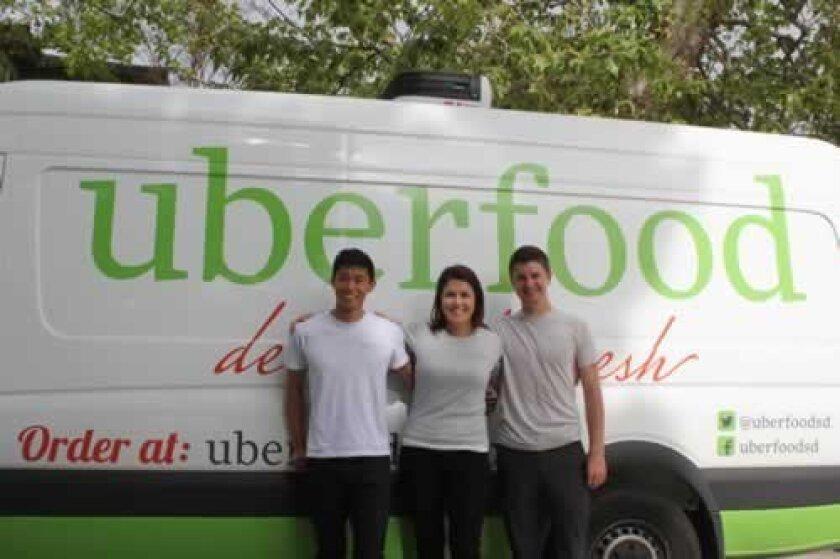 uberfood co-founders Gen Furukawa, Lisa Barnhouse-Gal and food manager Casey Knapp. Ashley Mackin