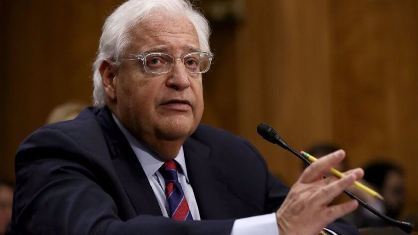 Ambassadorial nominee David Friedman