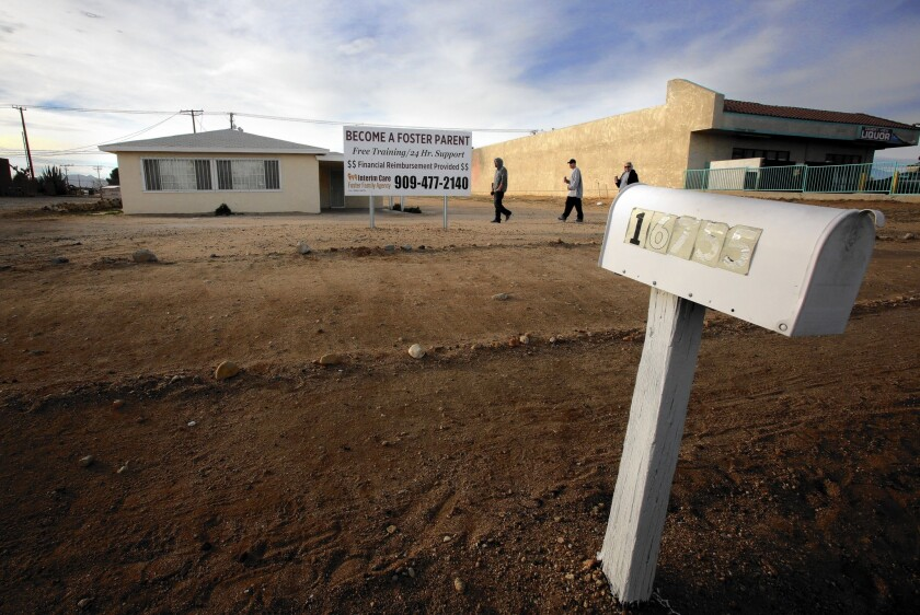 One agency was found to have disputed spending of $50,000 in 2009, part of which went to lease this Hesperia house from the agency's executive director for more than $1,000 over the market rate.