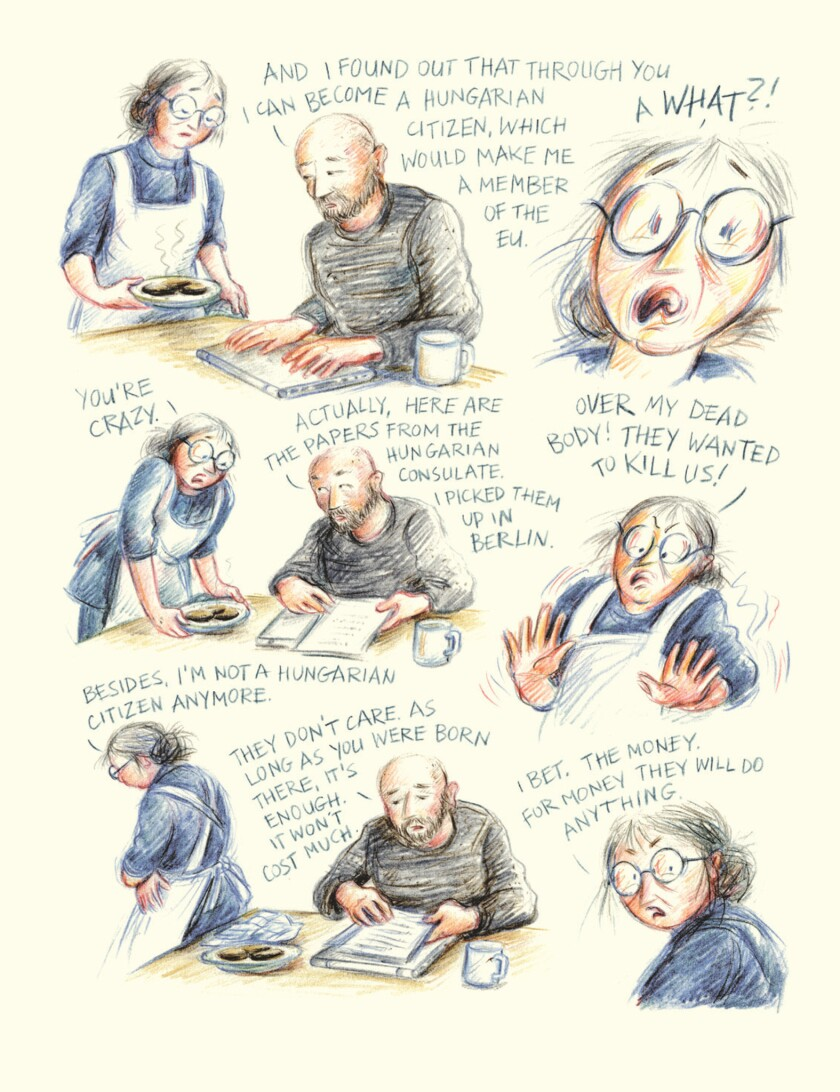 """A page from Miriam Katin's graphic memoir """"Letting It Go."""""""