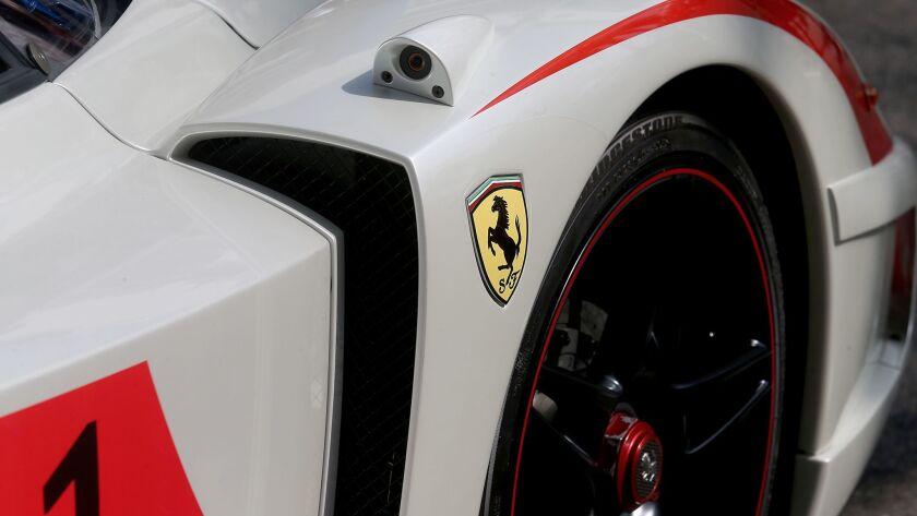 BEVERLY HILLS, CALIF - OCT. 12, 2014. The Italian luxury sports car maker Ferrari celebrated 60 year
