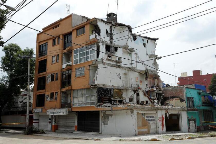 Vista general de un edificio ubicado en la calle de Concepción Beistegui, colonia Narvarte en Ciudad de México (México). EFE/Archivo