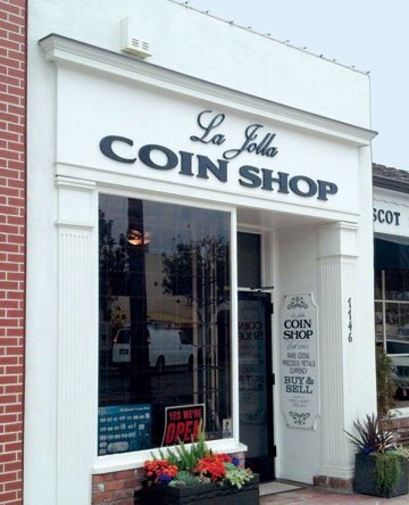 La Jolla Coin Shop's staff specialize in the buying and selling of rare coins, currency and precious metals, such as gold and silver.