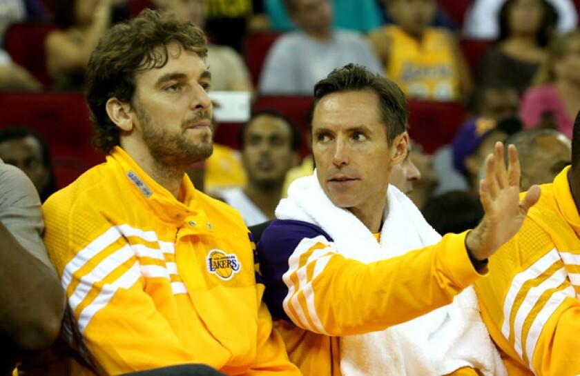 Pau Gasol won't play in the Lakers' preseason game against the Utah Jazz.