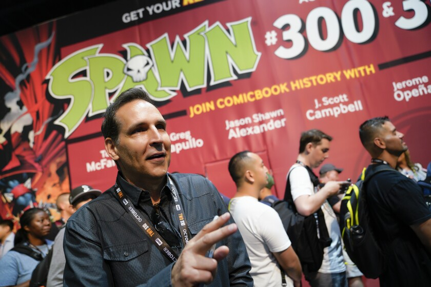 Todd McFarlane, the creator of Spawn and the artist behind Spiderman spoke with a news reporters.