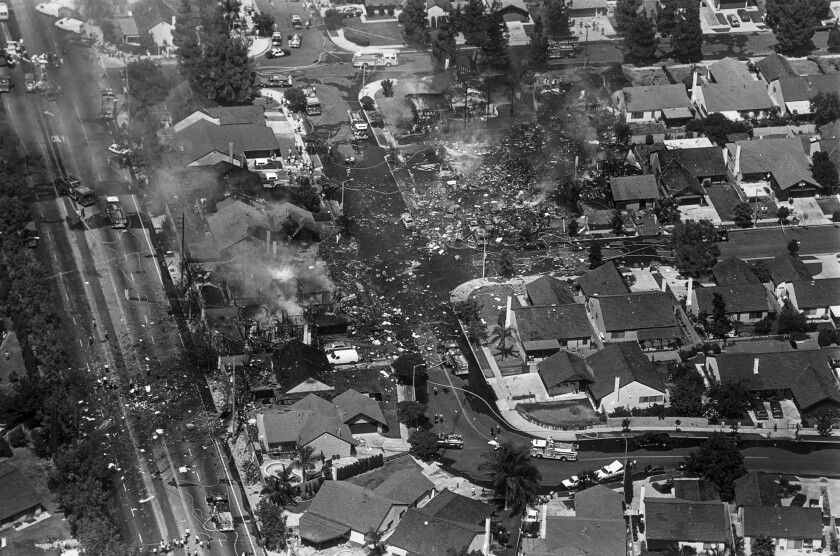 From the Archives: Aeromexico Flight 498 crashes in Cerritos