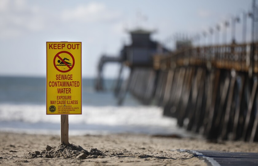 Beaches closed in Imperial Beach due to high bacteria levels from recent rains on Monday, Dec. 9, 2019.