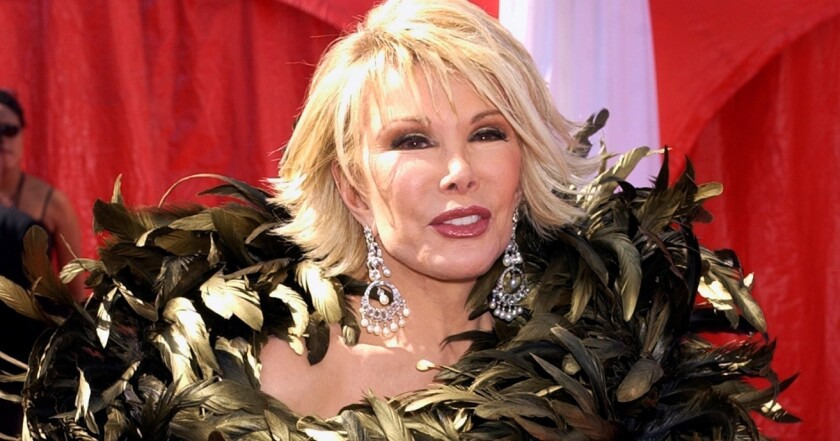 Joan Rivers died this year after she stopped breathing during an outpatient procedure. Above, Rivers arrives at the 2003 Emmy Awards in Los Angeles.