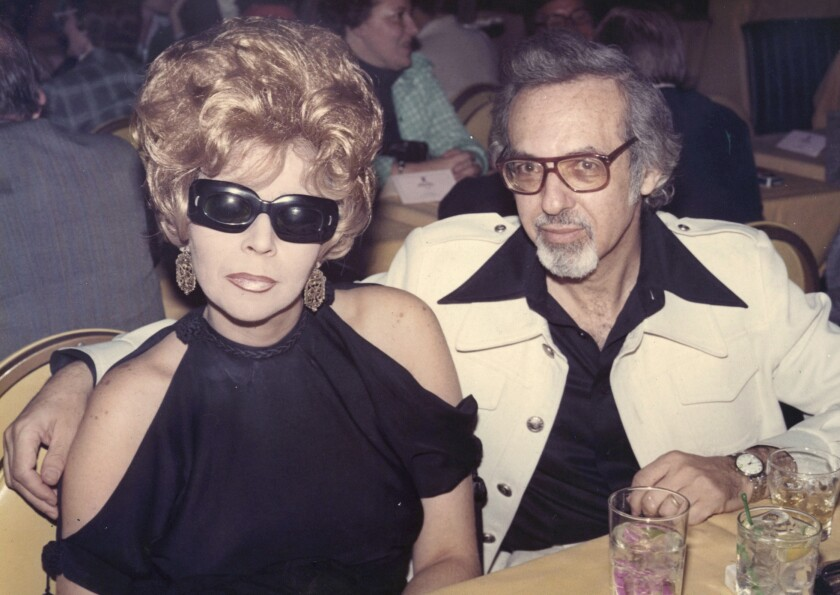 """This handout photo provided by Magnolia Pictures shows Linda and Burt Pugach in 1974. The two are the subject of the movie, """"Crazy Love."""" Linda Pugach, who was blinded in 1959 when her lover hired hit men to throw lye in her face and became a media sensation after later marrying him, died Jan. 22, 2013, in New York. She was 75."""