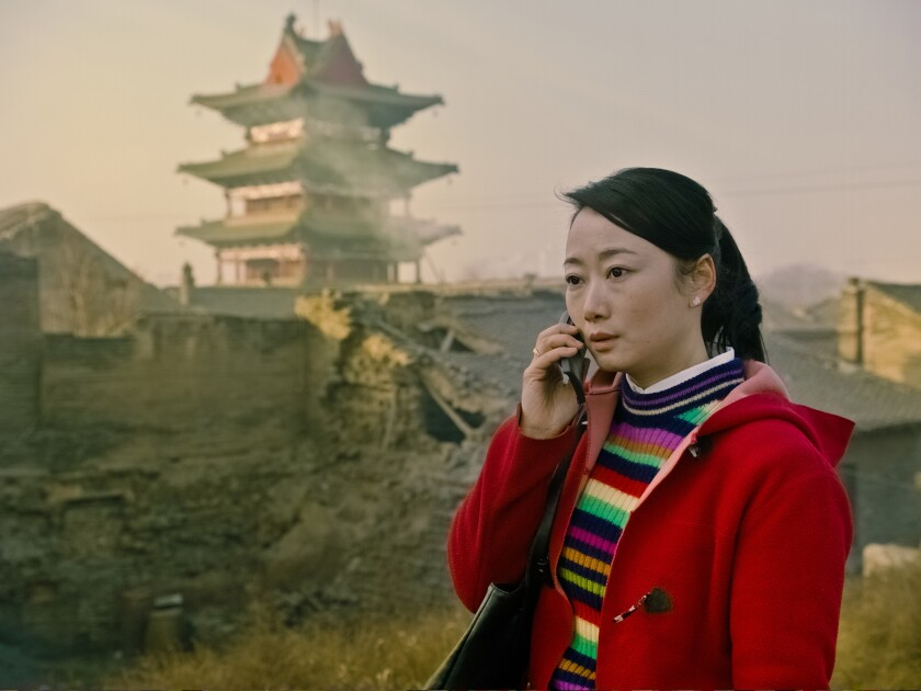 """Zhao Tao as Shen Tao in the movie """"Mountains May Depart."""""""