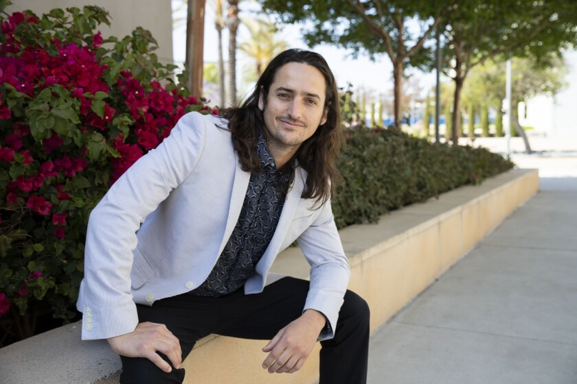 Jeff Jaureguy, 30, photographed recently at Cal State San Marcos. On Tuesday, the biological sciences senior received the 2019 Trustees' Award for Outstanding Achievement from the California State University system.