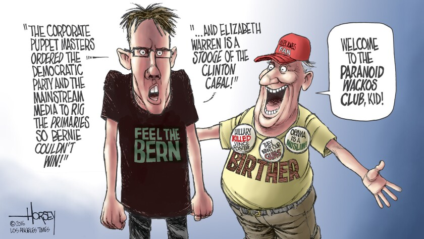 """Radical Bernie Sanders fans are becoming as paranoid as right wing """"Birthers."""""""