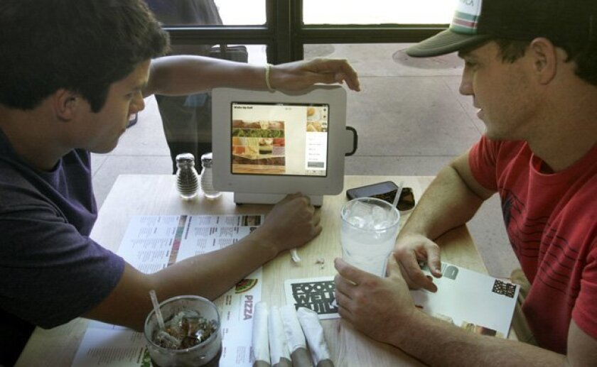 Ordering on a tablet? One Superdiner names this one of the worst restaurant trends of 2011.