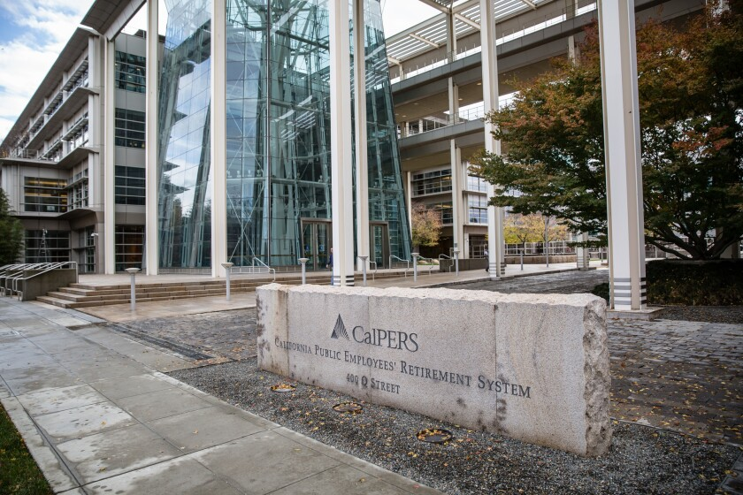 The California Public Employees' Retirement System (CalPERS) building. The giant public pension fund named Wall Street executive Paul Mouchakkaa to run its still-recovering real estate portfolio.