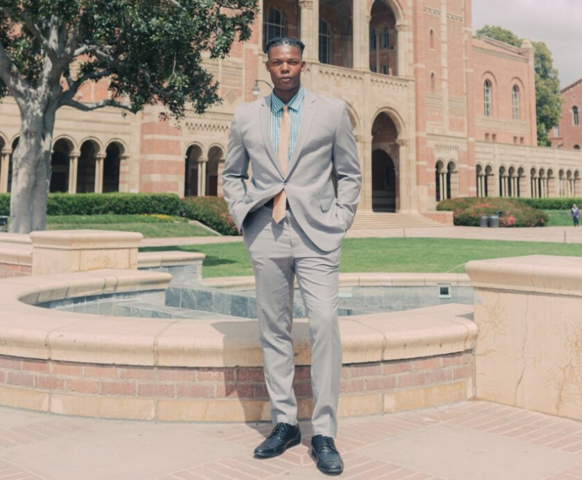 Elijah Wade left UCLA football. Now he aims to protect Bruins athletes in COVID-19 era