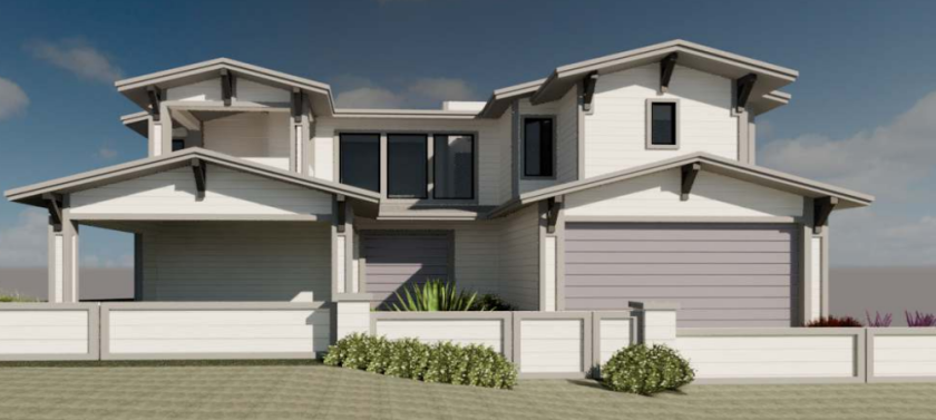 A rendering depicts the Salvagio residence project at 411 Sea Ridge Road in Bird Rock.