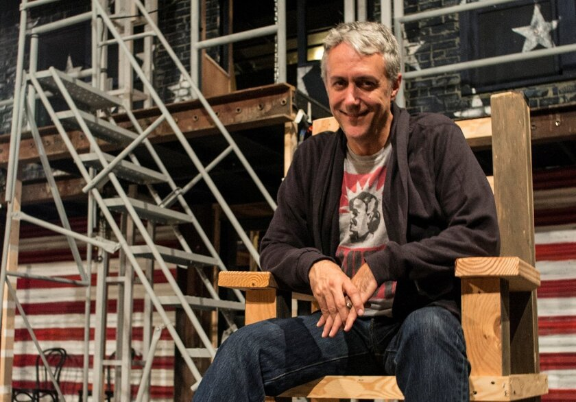 """Director and Cygnet Theatre artistic chief Sean Murray, on the set of """"Assassins."""""""