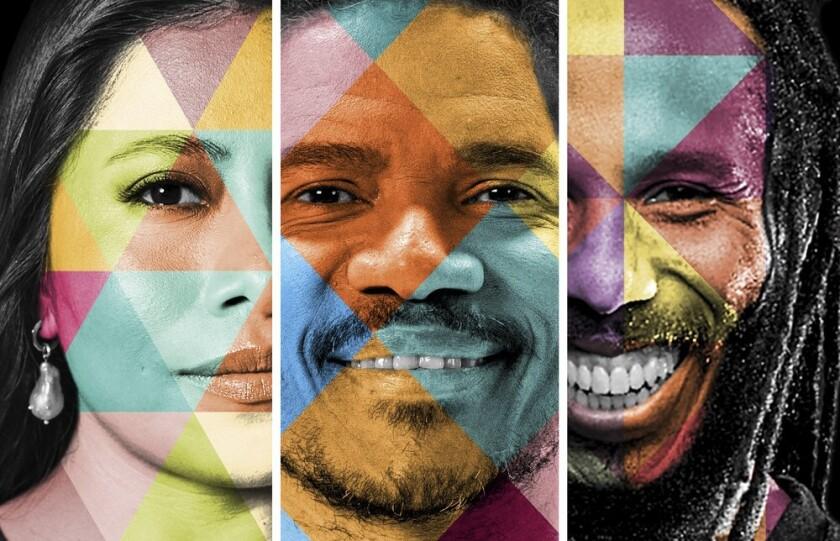 """""""América vibra"""" es un tema trilingüe en las voces de representantes de tres culturas."""