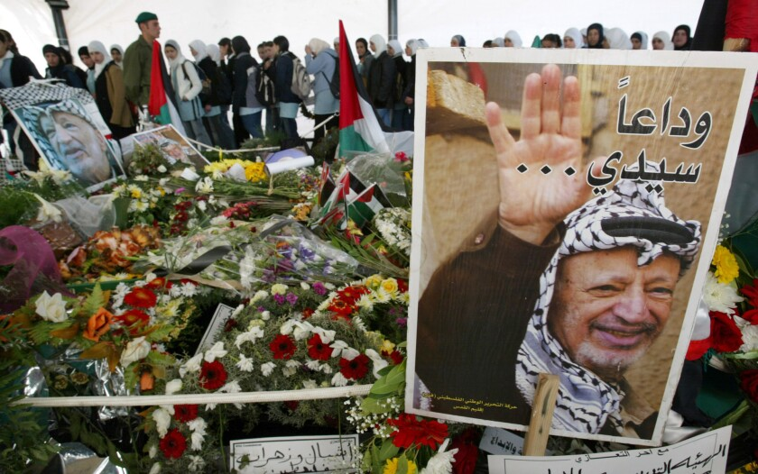 Palestinian leader Yasser Arafat, who died nine years ago at a Paris hospital after exhibiting symptoms doctors thought to be from influenza, was probably poisoned by the radioactive isotope polonium-210, Swiss forensic scientists have concluded in a report released Wednesday.