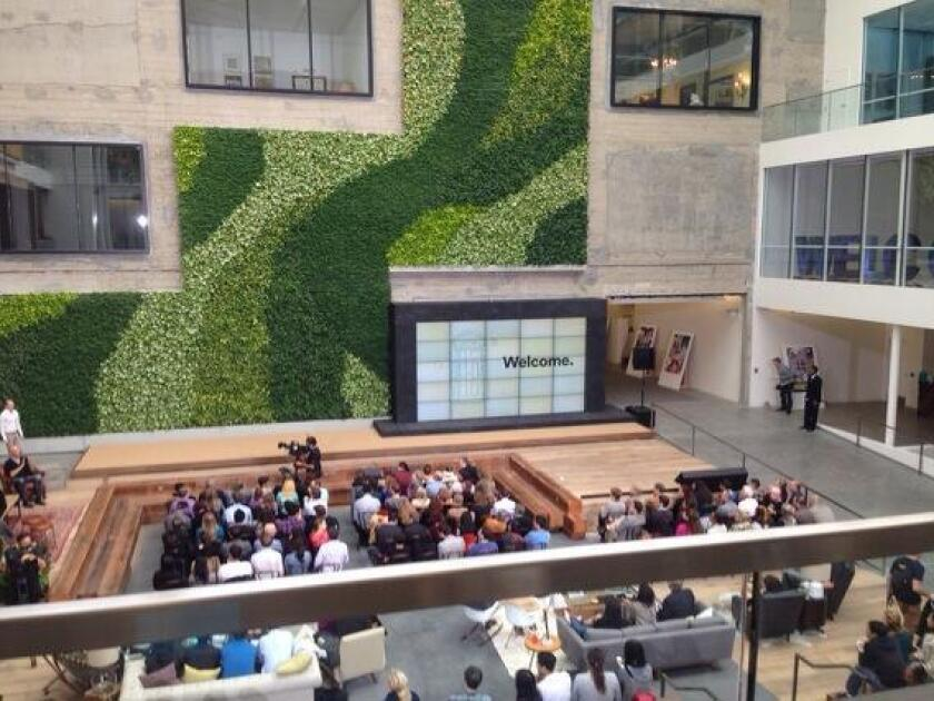 Airbnb put on a press conference at its new San Francisco headquarters on Tuesday morning.