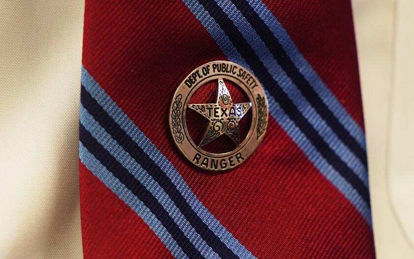 James Holland's Texas Ranger tie pin