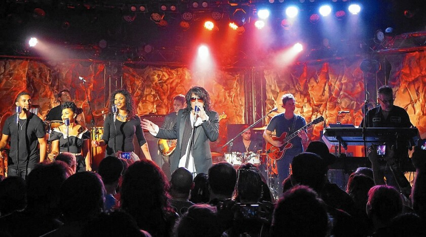 Paul Stanley of KISS performs with Soul Station at the Roxy Theatre in Los Angeles on Sept. 11.