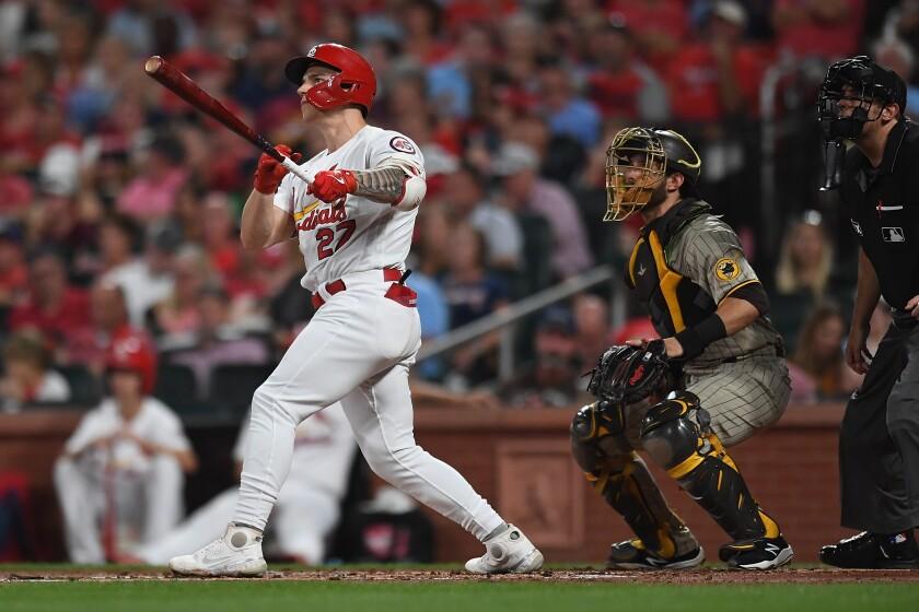 Tyler O'Neill of the St. Louis Cardinals hits a two-run homer